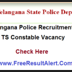 Telanagana Police Recruitment 2019