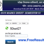 UP DElEd 1st Semester Result 2019