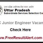 UPSSSC Junior Engineer Vacancy 2020