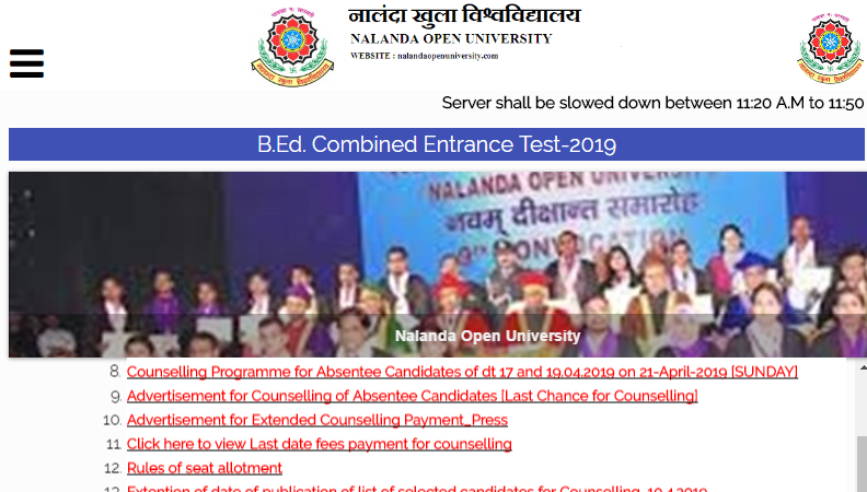 Bihar BEd 3rd Counselling List 2019