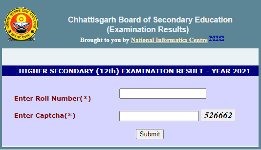 CG Board 12th Result 2021 Name Wise