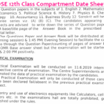 HPBOSE 12th Class Compartment Date Sheet 2019