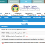 HPBOSE 12th Compartment Result 2019