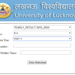 Lucknow University BA 1st Year Result 2020