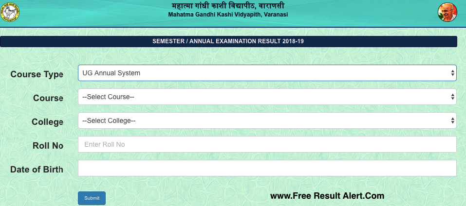 MGKVP BA 2nd Year Result 2019