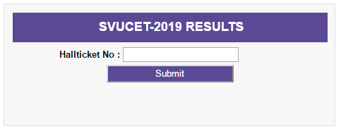 SVUCET Results 2019 UG & PG Entrance Exam Results