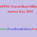 APPSC Forest Beat Officer Answer Key 2019