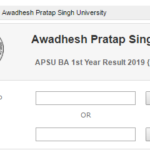 APSU BA 1st Year Result 2019