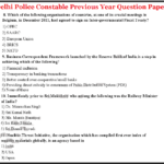Delhi Police Constable Previous Year Solved Question Paper pdf Download