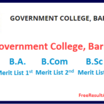 Government PG college Barmer Merit List 2019