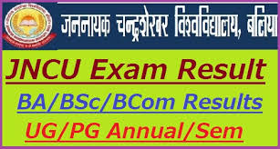 JNCU BA 1st Year Result 2019