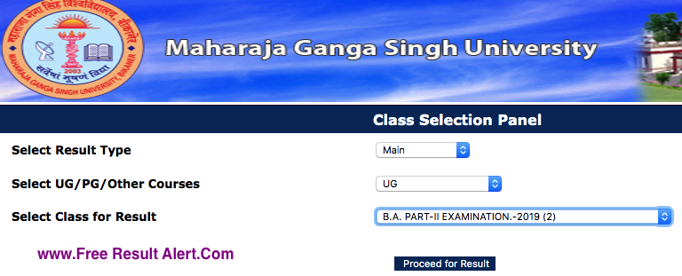 MGSU BA 2nd Year Result 2019