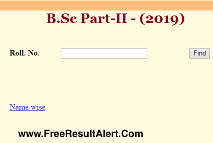 Rajasthan University BSC 2nd Year Result 2019