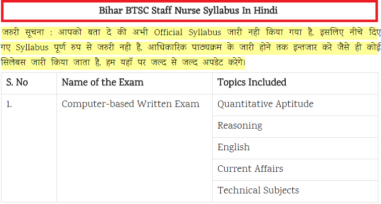Bihar BSTC Staff Nurse Grade A Tutor Admit Card Download