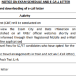 RRB Paramedical Staff Nurse Admit Card 2020