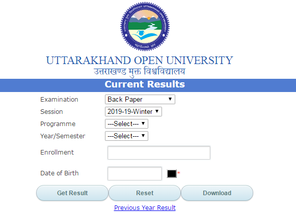 Uttarakhand Open University BA 1st Year Result 2019